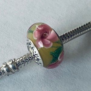 Pandora Flower Glass Bead